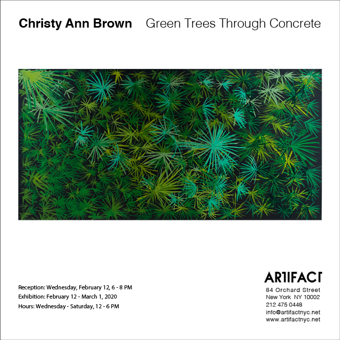 Green Trees Through Concrete Exhibition at Artifact in New York City