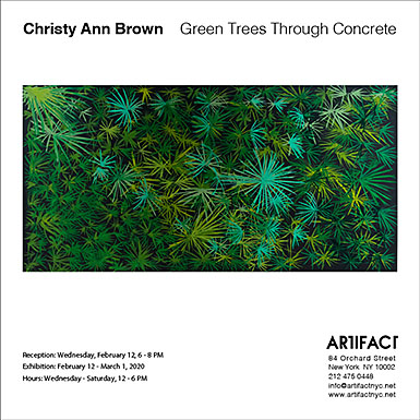 Green Trees Through Concrete exhibition at Artifact